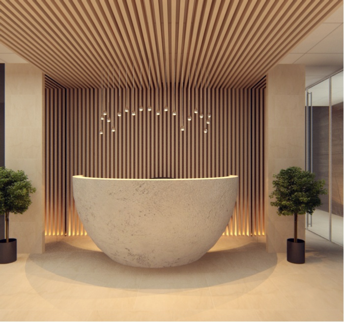 Office Front Desk Design Endearing 50 Reception Desks Featuring Interesting And Intriguing Designs Inspiration Design