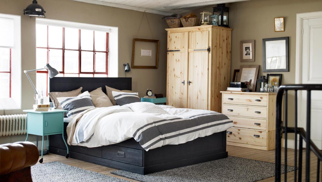 45 ikea bedrooms that turn this into your favorite room of for Chambre 9m2 ikea