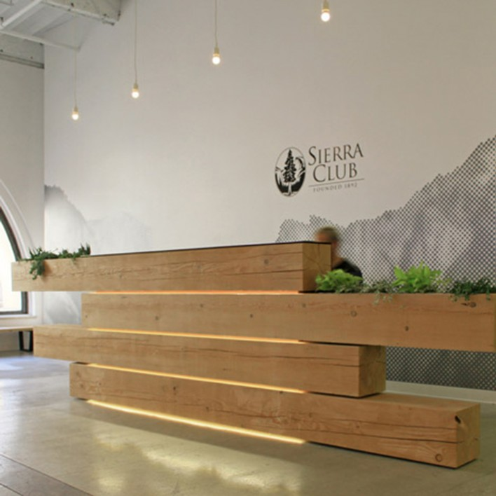Reception Desks Made Of Wood