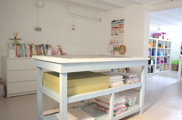 Diy Craft Desk With Storage