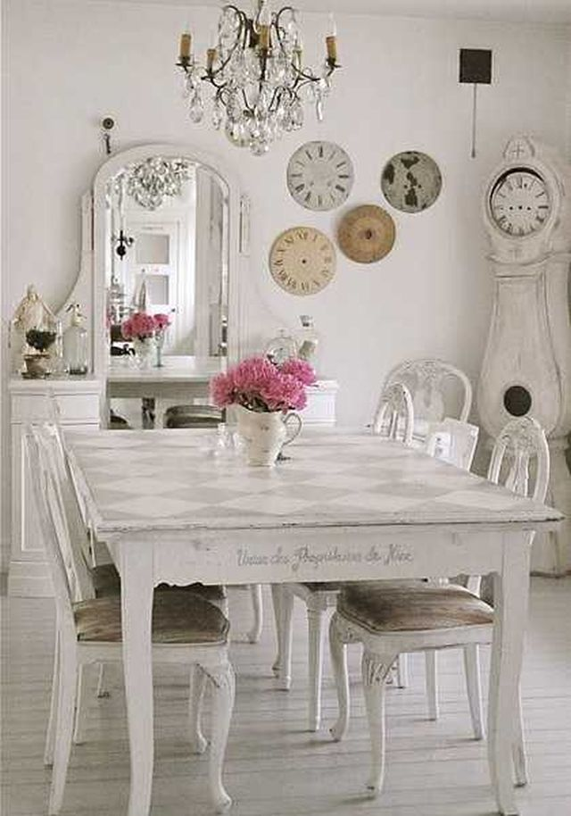 52 Ways Incorporate Shabby Chic Style into Every Room in  : table diagonal checkerboard from www.homedit.com size 640 x 914 jpeg 76kB