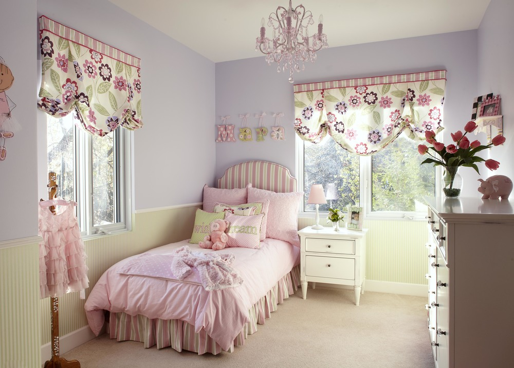 Look beyond the clich s 11 pink chandeliers with grown up charm - Interior design of room for girls ...