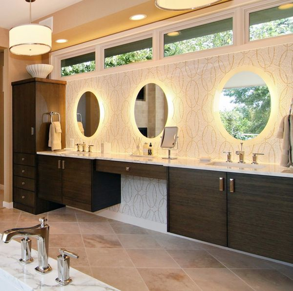 Bathroom Mirrors Lit From Behind rise and shine! bathroom vanity lighting tips