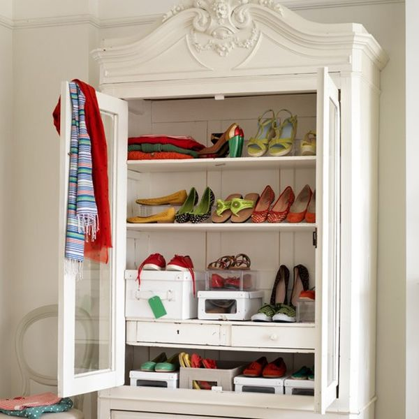 Vintage & Feminine. - 20 Shoe Storage Cabinets That Are Both Functional & Stylish