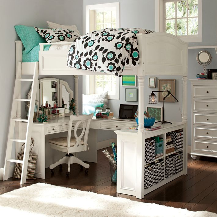 Best Beds For Small Rooms mixing work with pleasure - loft beds with desks underneath