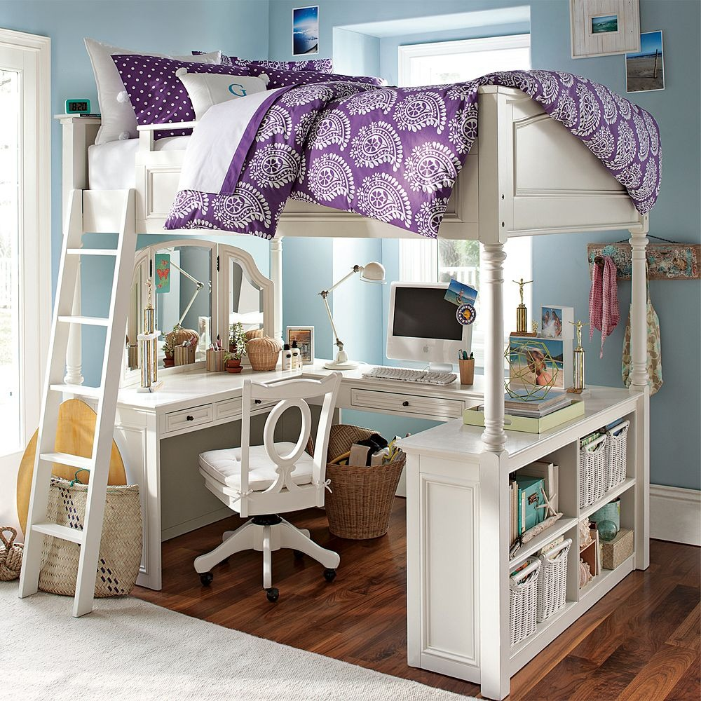 For The Kids Homework And Sleep Under One Roof Having A Loft Bed With Desk