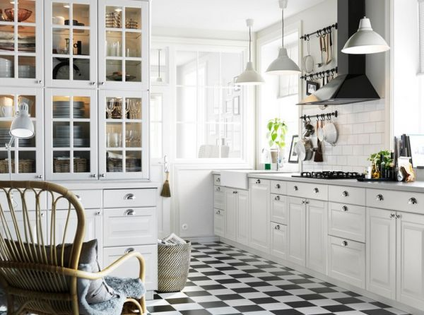 black and white floor tile kitchen. View in gallery Floor Painting  A Guide to the Whats and Hows of Your