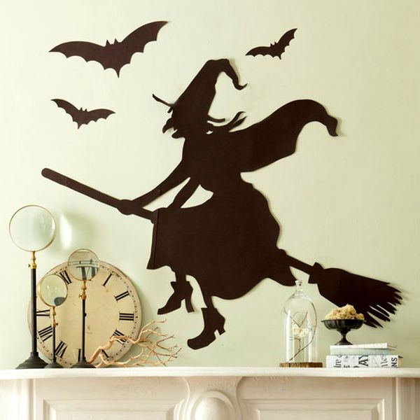 20 booo tiful halloween silhouettes - Halloween Witch Decorations