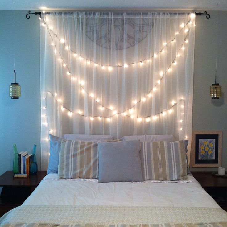 Beautiful String Lights Bedroom Ideas Part - 6: How You Can Use String Lights To Make Your Bedroom Look Dreamy