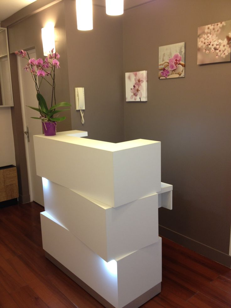 Zen Inspired Salon Reception Desk Jpg