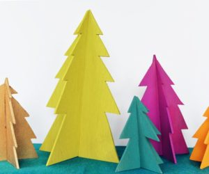 DIY Modern Wooden Christmas Trees