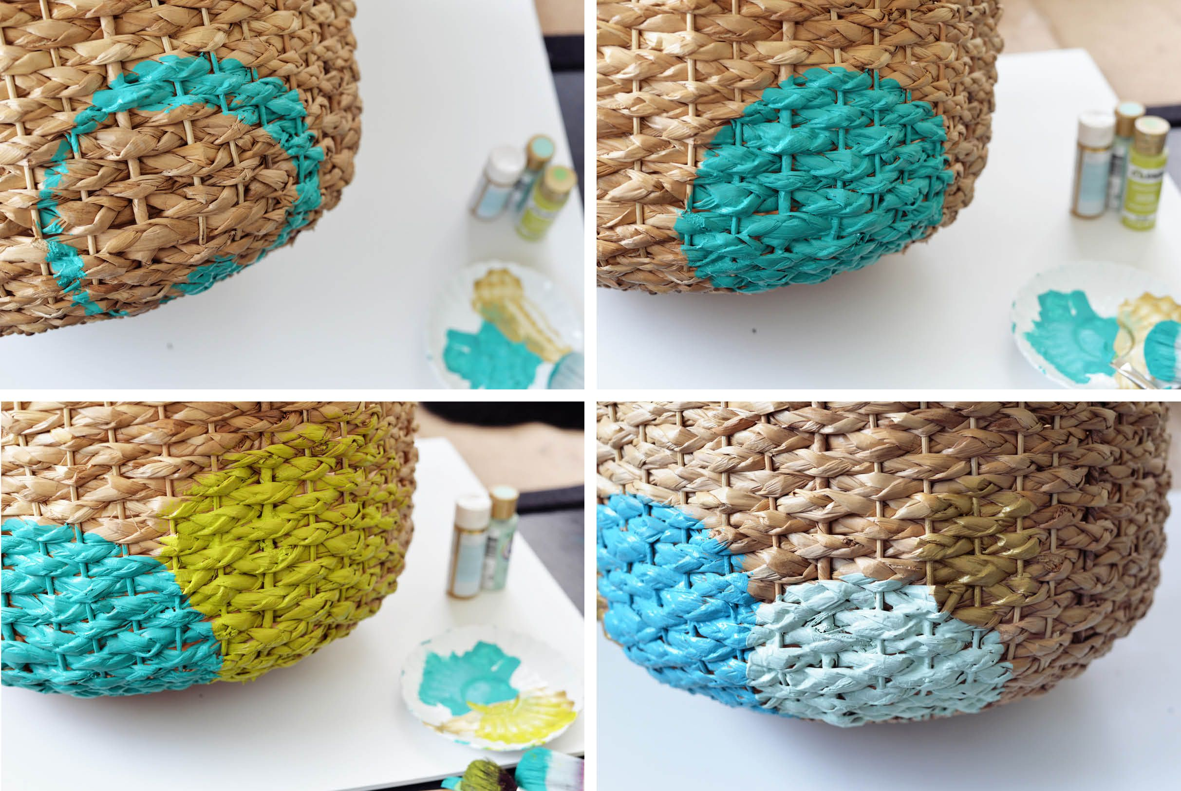 Painted basket diy painted basket solutioingenieria Image collections