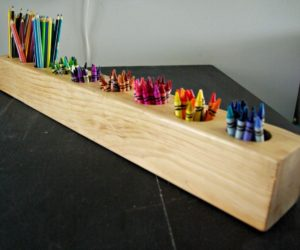 Rustic DIY Pencil Holder