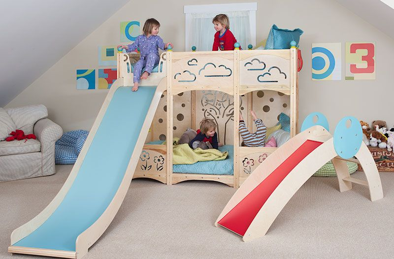 & Toddler Bunk Beds That Turn The Bedroom Into a Playground