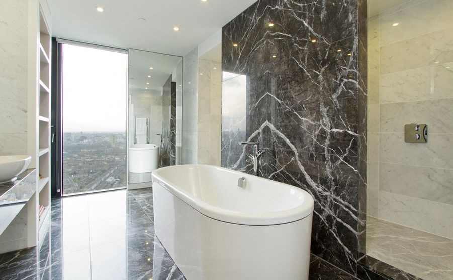 Beau Sophisticated Bathroom Designs That Use Marble To Stay Trendy