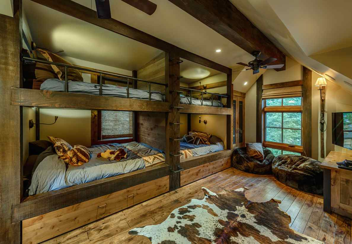 Mountain cabin overflowing with rustic character and for Cabin decor