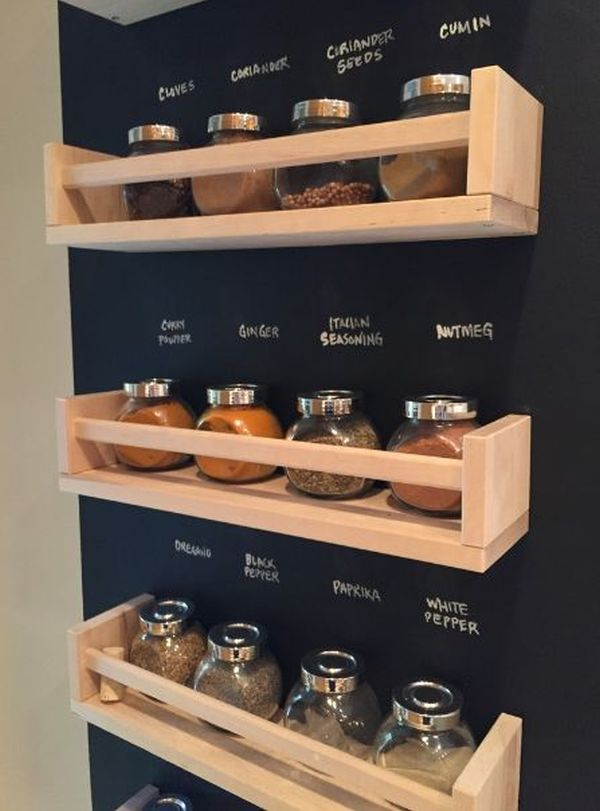 18 ways to hack ikea spice racks. Black Bedroom Furniture Sets. Home Design Ideas