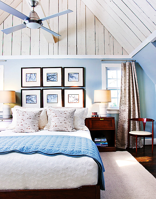 20 fantastic bedroom color schemes for Interior design bedroom blue white