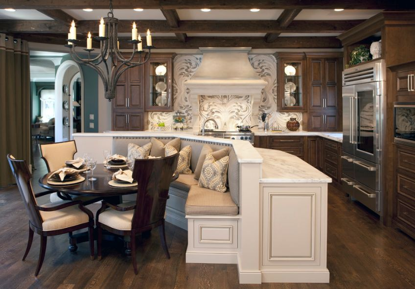 Eat In Kitchen Ideas.How A Kitchen Table With Bench Seating Can Totally Complete Your Home