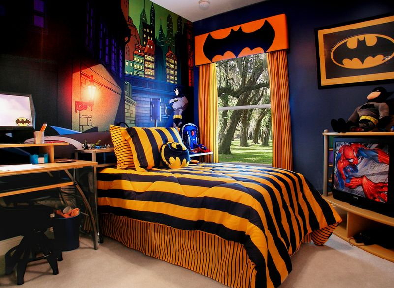 batman bedding and bedroom d cor ideas for your little superheroes rh homedit com Batman Boys Room batman kids room ideas