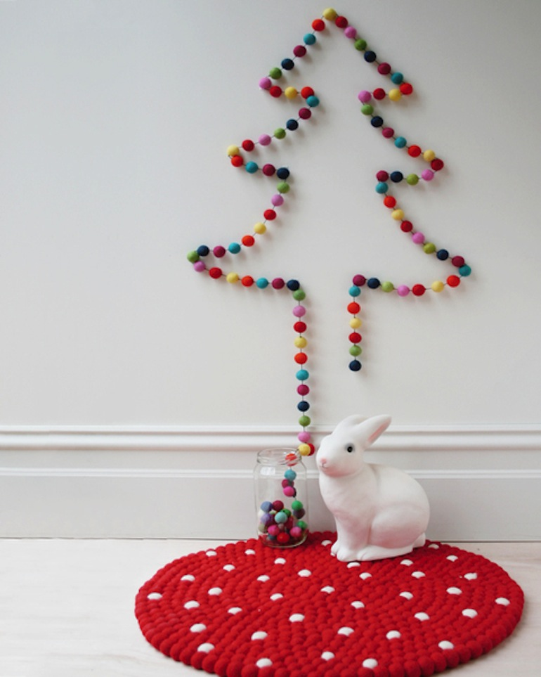 view in gallery - Wall Christmas Trees