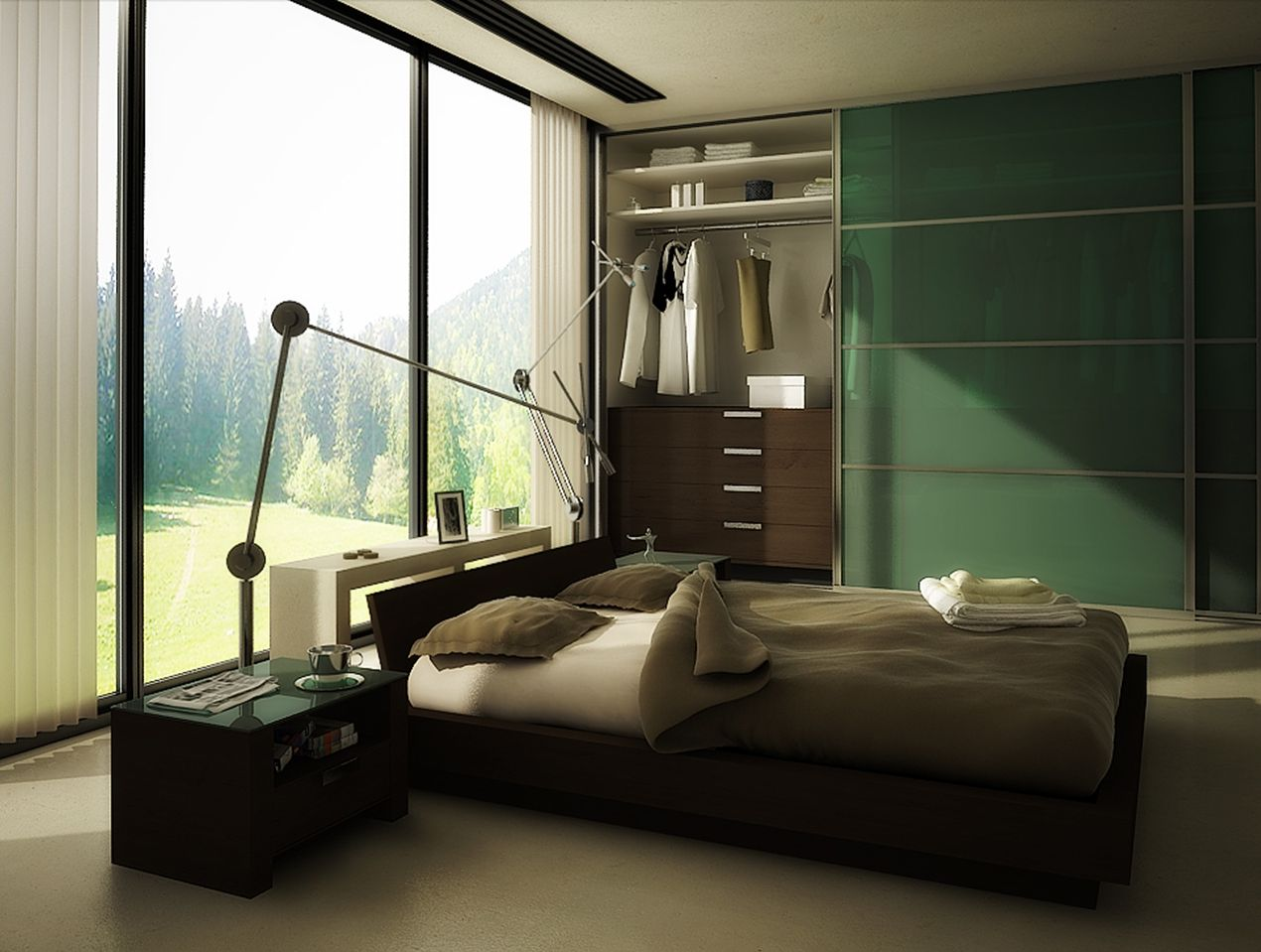 green bedrooms color schemes