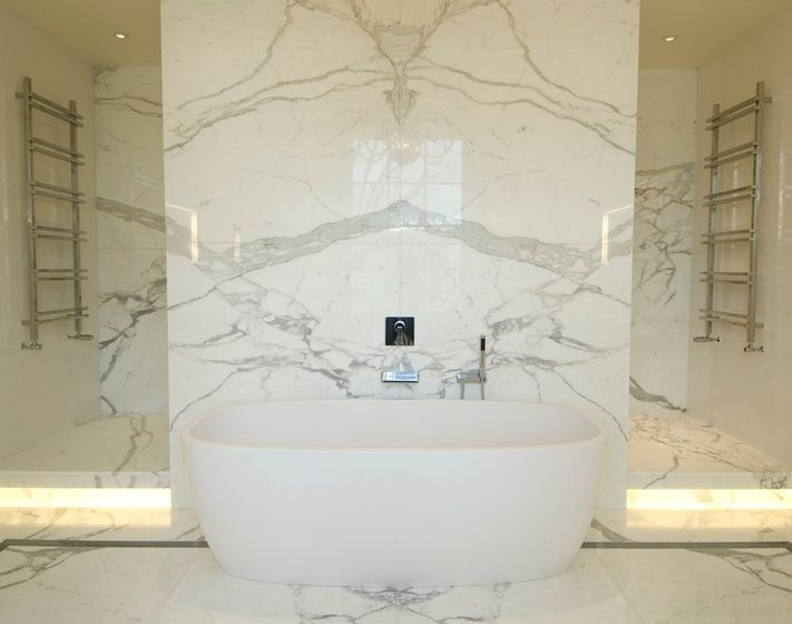 White Marble Tile Bathroom sophisticated bathroom designs that use marble to stay trendy