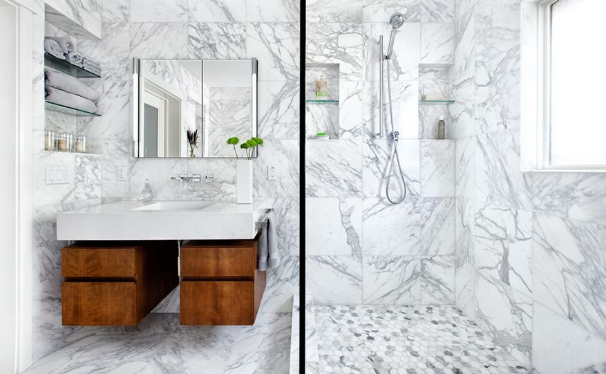 . Sophisticated Bathroom Designs That Use Marble To Stay Trendy