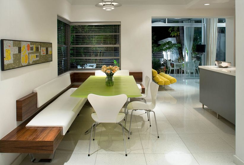 & How A Kitchen Table With Bench Seating Can Totally Complete Your Home
