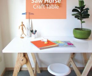 How To Make A Crafting Table – Saw Horse Type