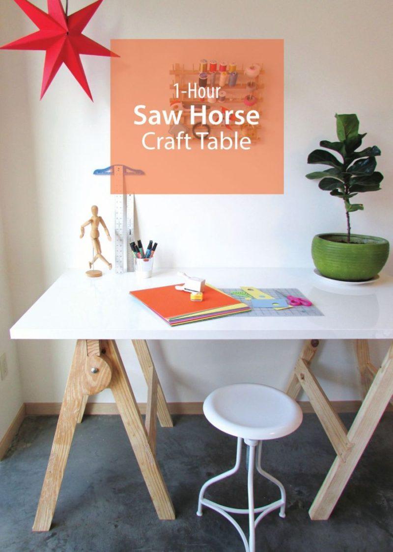 如何制作一个制作的桌子 - 锯马类型