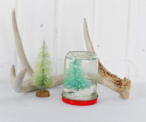 DIY Homemade Custom Snow Globes for Christmas