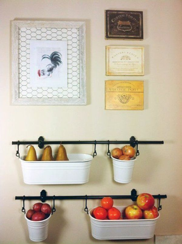 Our new obsession hanging fruit baskets for Kitchen countertop storage solutions