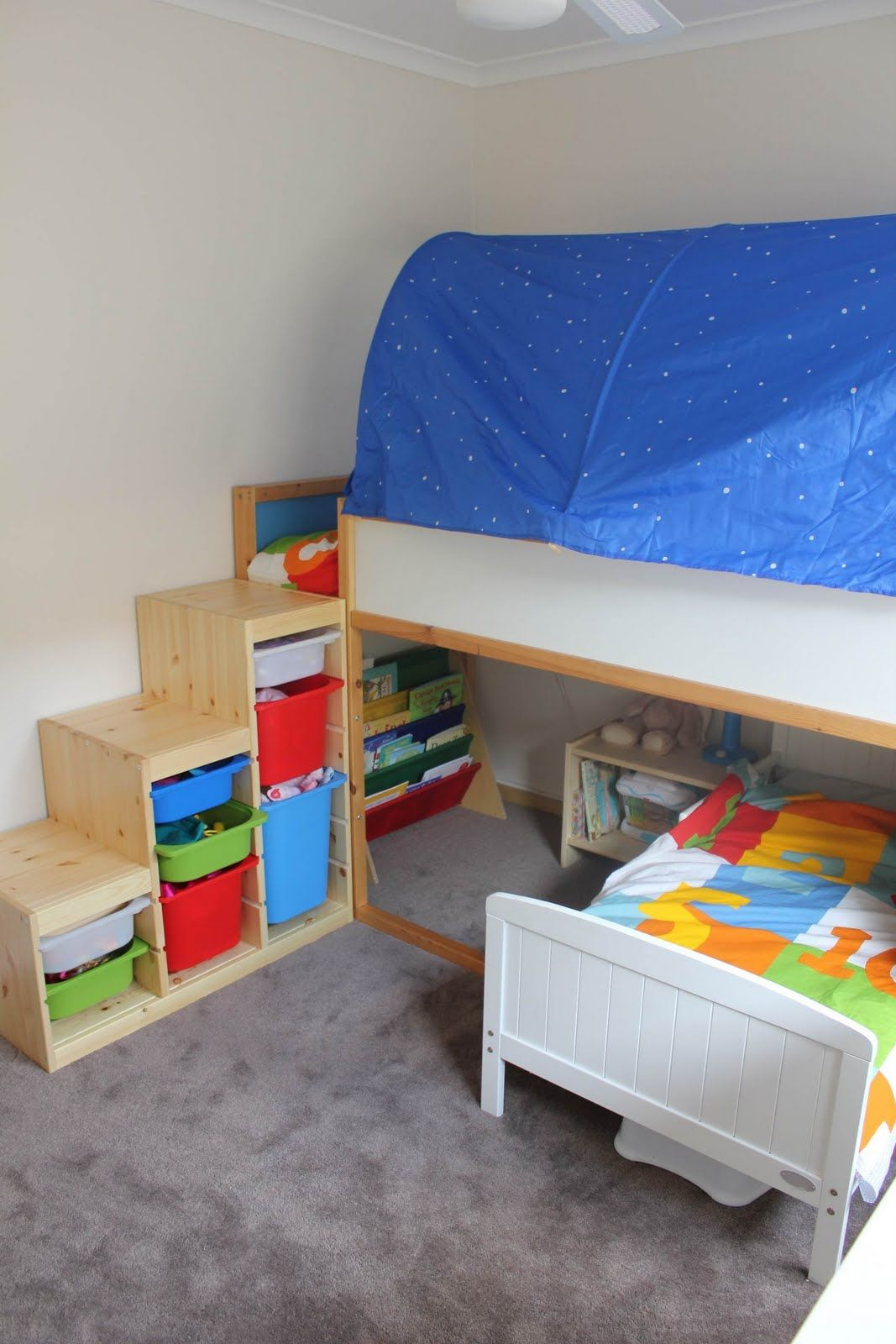 Toddler Bed With Stairs.Toddler Bunk Beds That Turn The Bedroom Into A Playground