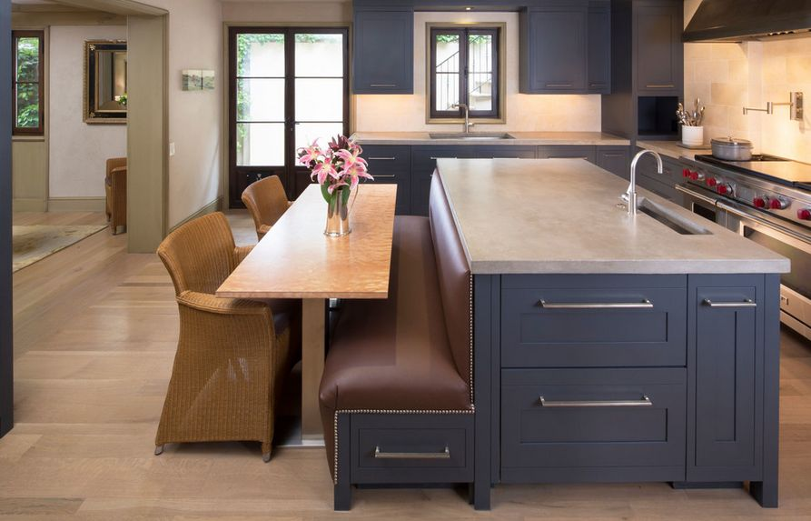How A Kitchen Table With Bench Seating Can Totally  : leather bench seating kitchen from www.homedit.com size 893 x 573 jpeg 66kB
