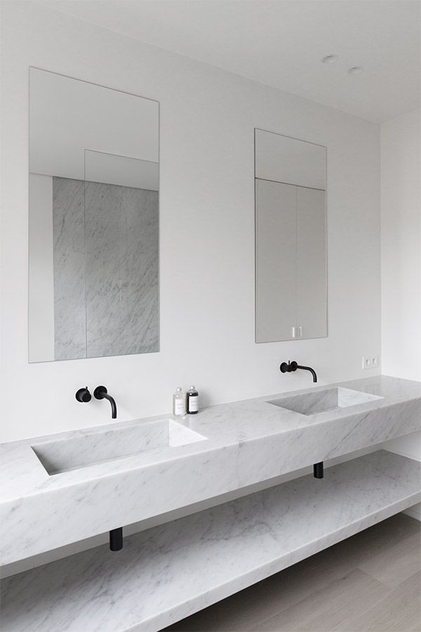 Sophisticated Bathroom Designs That Use Marble To Stay Trendy. Black And White Marble Bathrooms. Home Design Ideas
