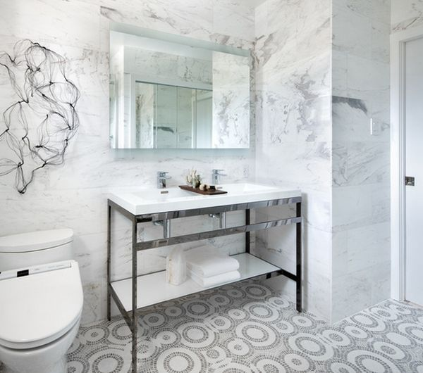 Superb Small Marble Bathroom Ideas Part - 13: View In Gallery