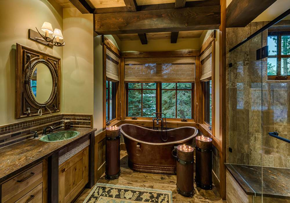 Mountain Cabin Overflowing With Rustic Character And Handcrafted BeautyMountain Cabin Overflowing With Rustic Character And Handcrafted  . Mountain Cabin Bathroom Designs. Home Design Ideas