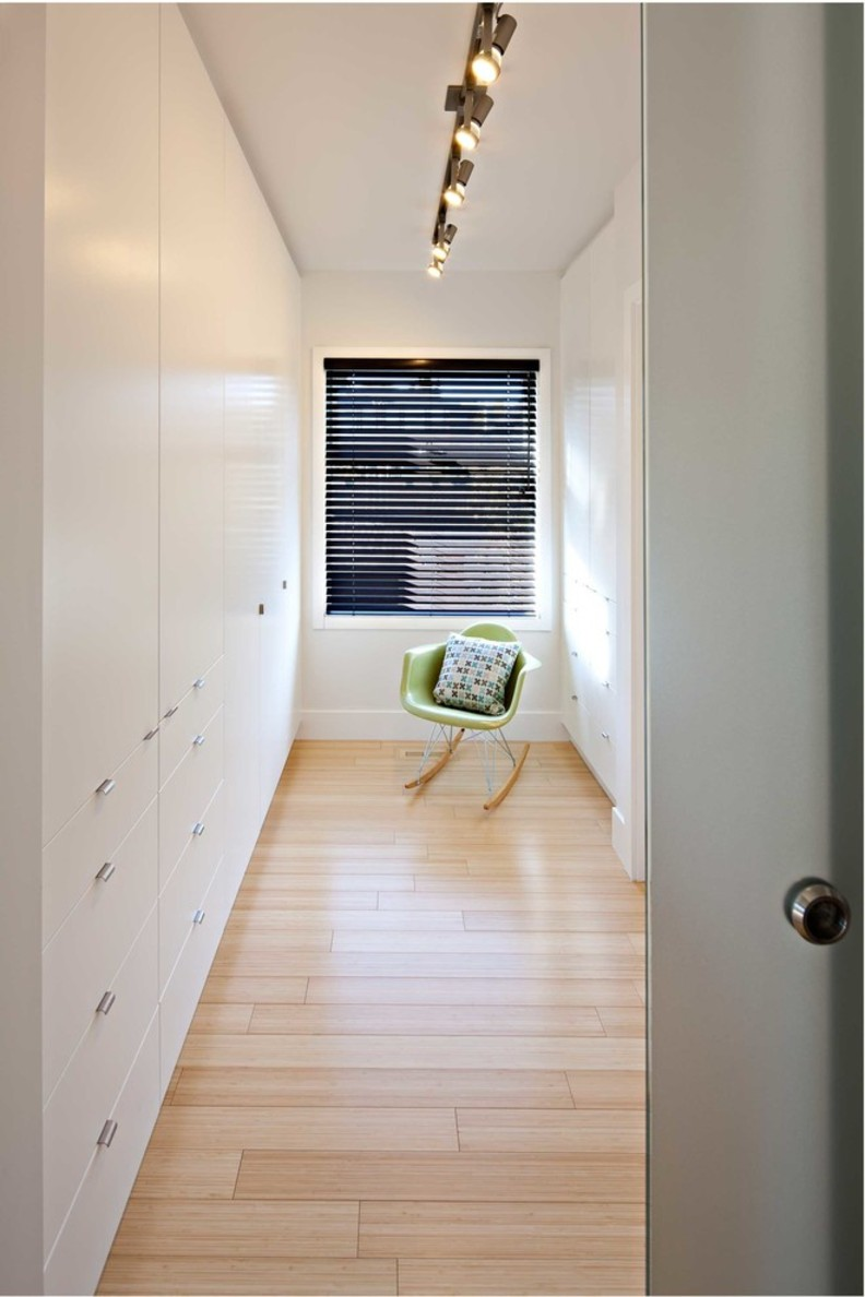 Narrow closet lighting.