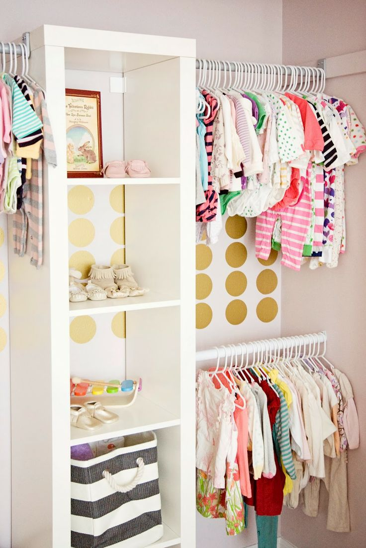 Organizing the baby 39 s closet easy ideas tips - Diy babyzimmer ...