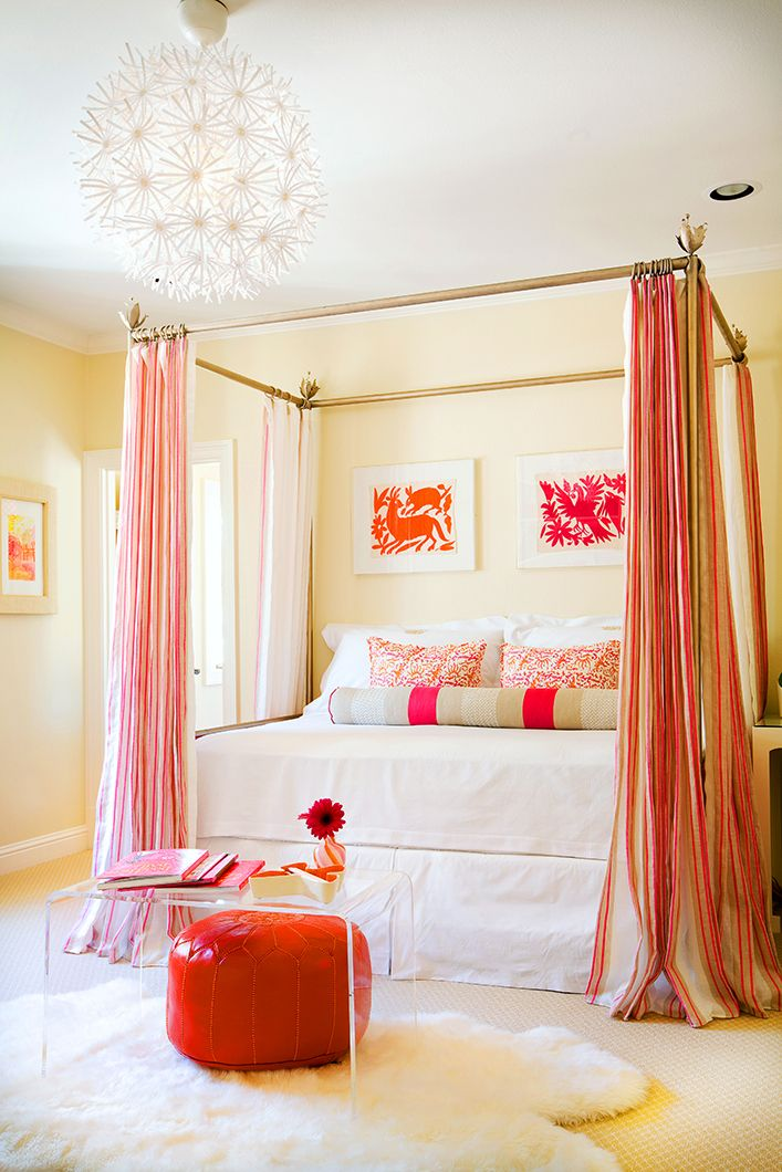 Pink And Orange Bedroom.