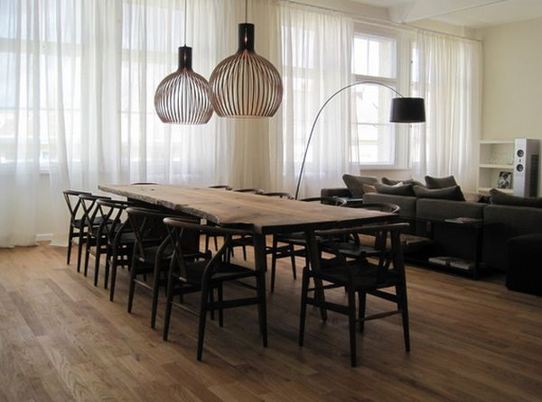 View In Gallery The Sculptural Allure Of A Live Edge Dining Table