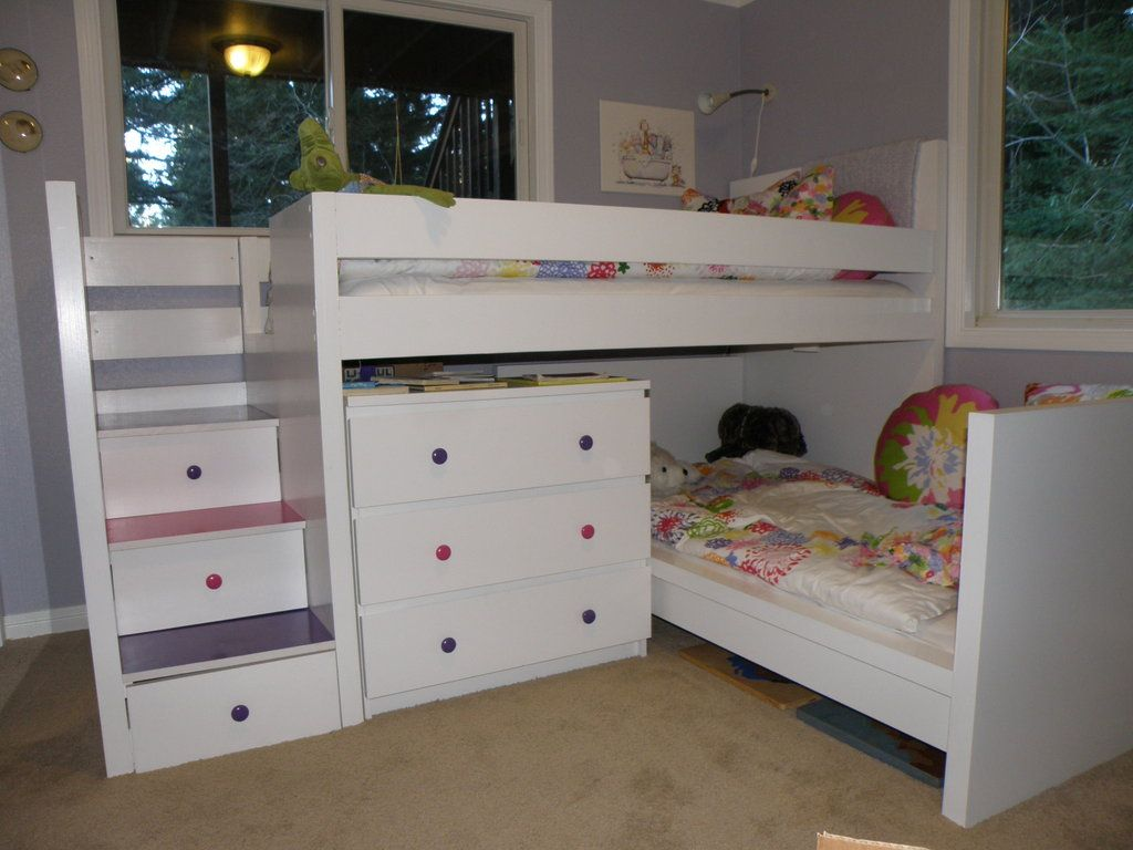 Toddler bunk beds that turn the bedroom into a playground for Space saver beds ikea
