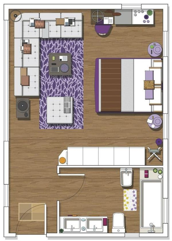 Small Bathroom Floor Plans With Tub