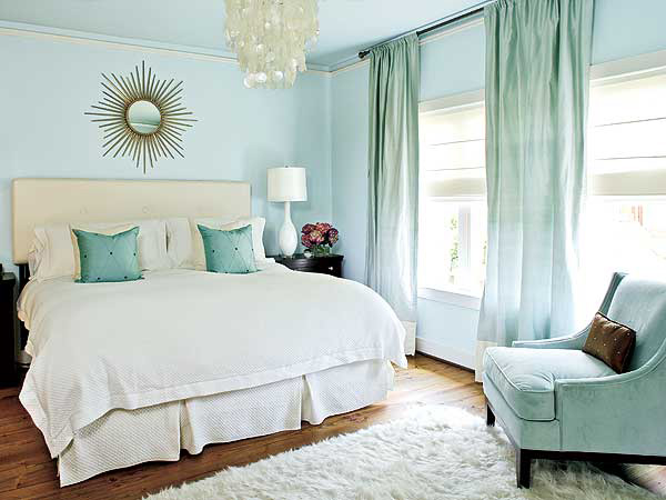 Coastal inspired blues with creamy white 20 Fantastic Bedroom Color Schemes. Bedroom Colors. Home Design Ideas