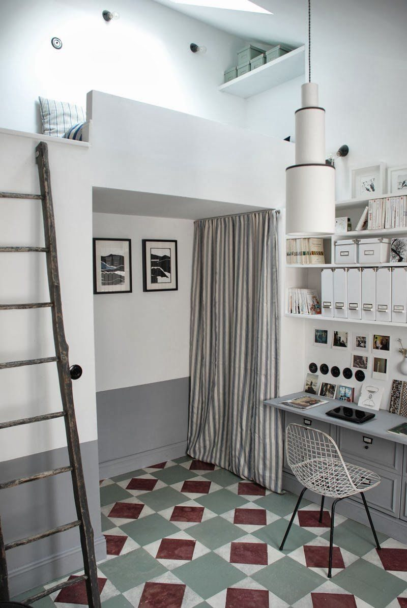 Tiny Attic Becomes A Full-Scale Apartment Designed For Entertainment