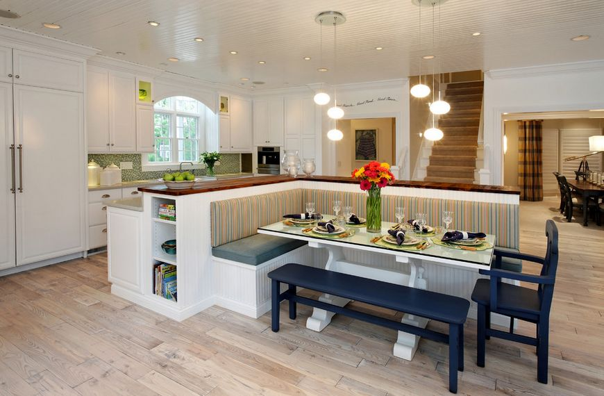 Beautiful How A Kitchen Table With Bench Seating Can Totally Complete Your Home