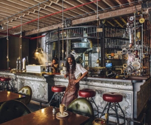 a cape town shop promotes excellent coffee through a steampunk design - Steampunk Interior Design Ideas