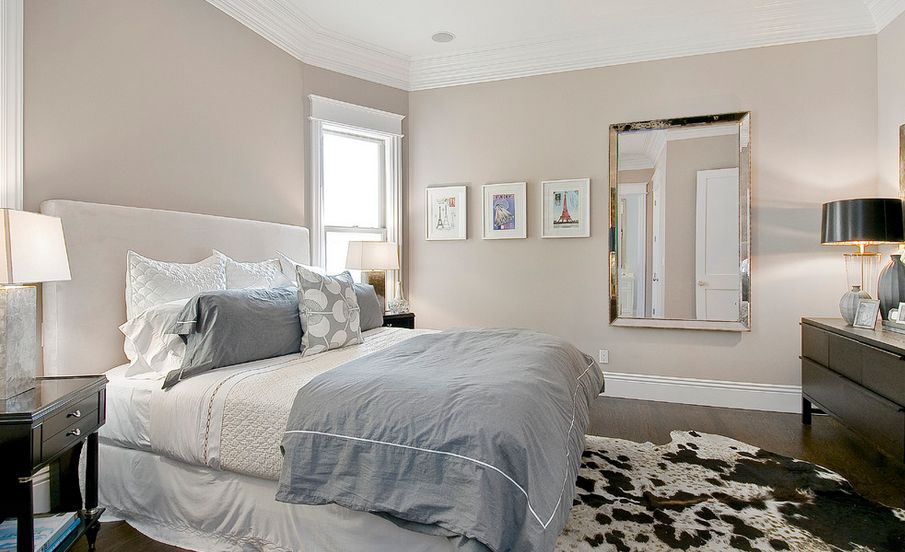 two toned neutrals - Bedroom Colour Ideas