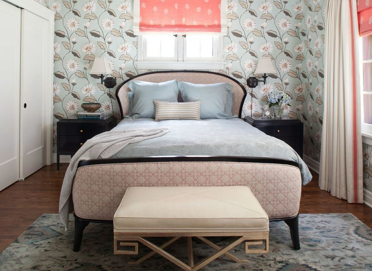 vintage pink and grey - Bedroom Colors